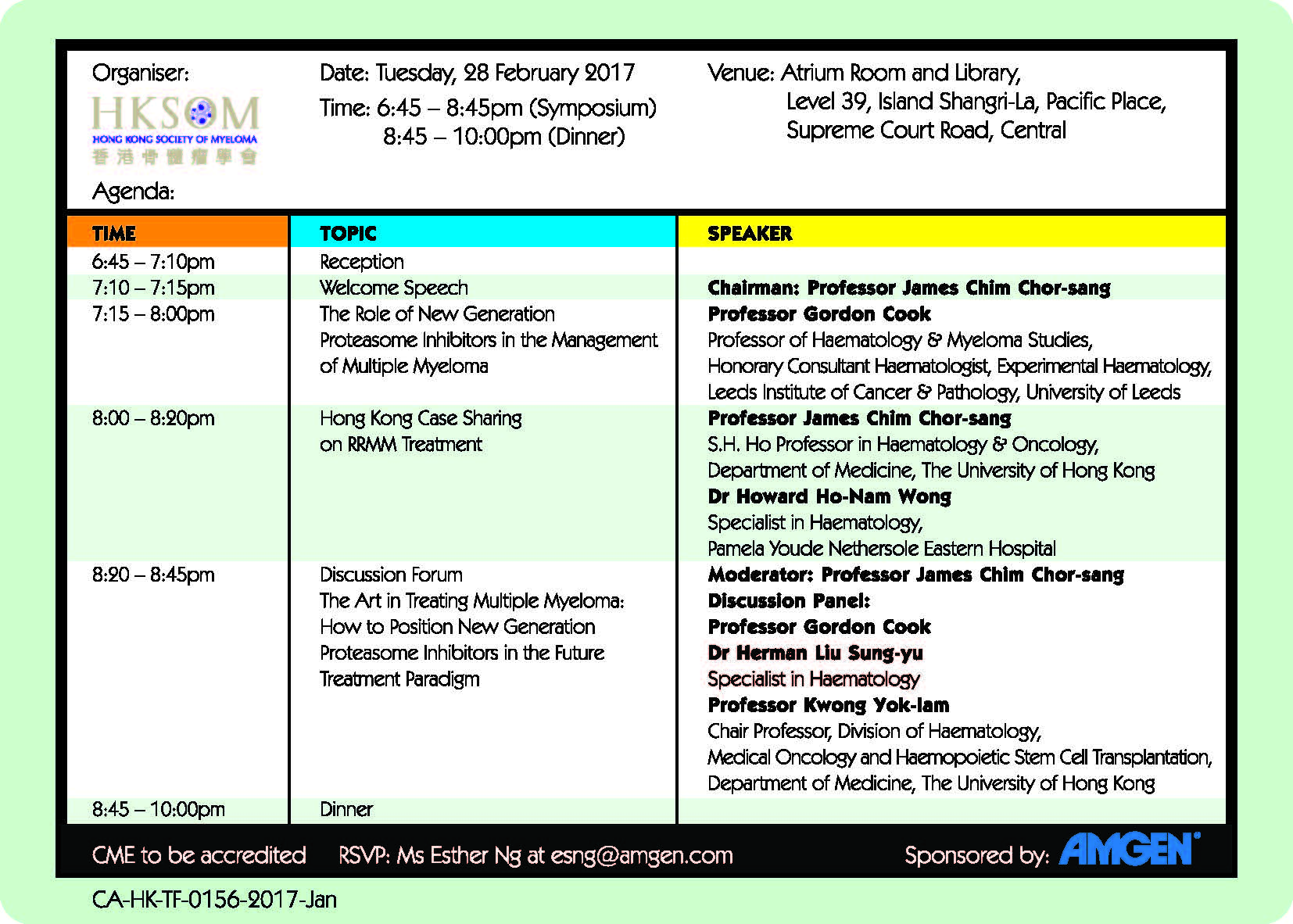 """Scientific Dinner Symposium – """"The Role of New Generation"""